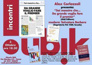 Alex Corlazzoli alla libreria Ubik di Parma
